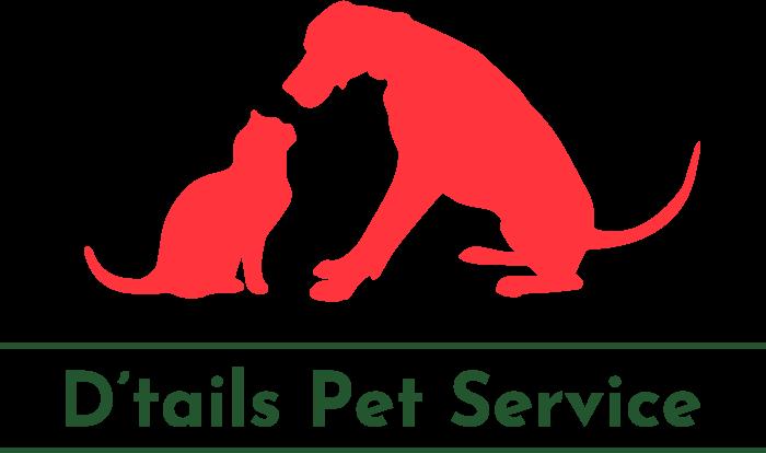 d'tails pet service logo 700 by 414 pixels