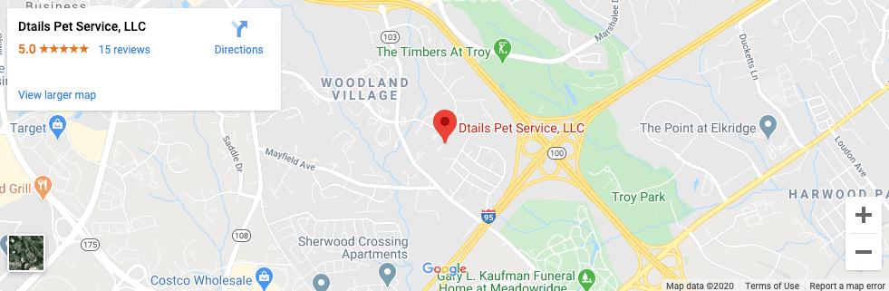 dtails pet service Google maps result
